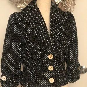 Sanctuary clothes black polka dot jacket size S